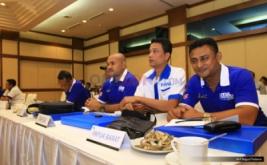 Perwakilan futsal dari Papua Barat dan Papua menghadiri Kongres Federasi Futsal Indonesia (FFI) 2016 di Auditorium MNC Tower, Jakarta, Rabu (30/11/2016).