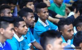 Suasana saat Opening ceremony Liga futsal Perindo tingkat nasional di Hall Room Hotel Ibis Cawang, Kamis (1/12/2016).  Liga futsal Perindo tingkat nasional ini akan digelar 2-4 Desember 2016 di Jakarta.