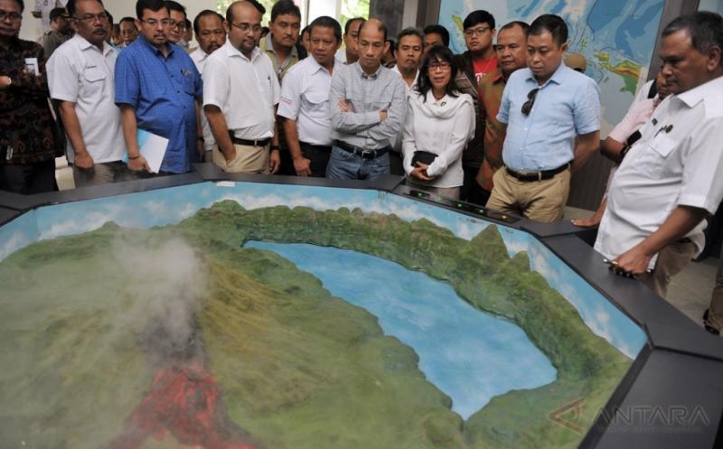 Menteri Ignasius Jonan Tinjau Obyek Wisata Geopark Batur