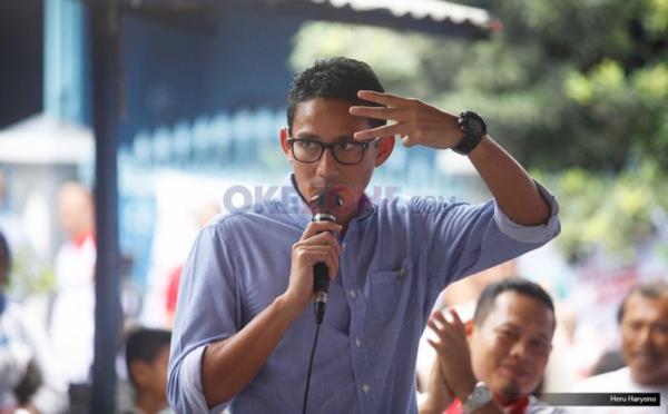 Sandiaga Uno Kampanye di Terogong, Warga Keluhkan Sulitnya Ekonomi