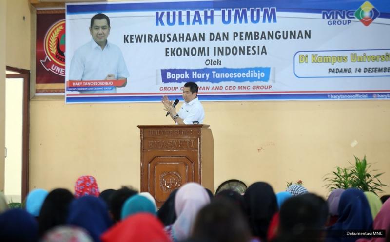 Hary Tanoe Motivasi Mahasiswa Universitas Ekasakti Padang Jadi Wirausahawan Produktif