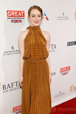 Emma Stone Tampil Cantik di BAFTA Tea Party 2017
