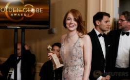 Si Cantik Emma Stone Sabet Golden Globe Awards 2017
