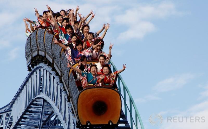 Gadis-Gadis Jepang Rayakan Coming of Age Day dengan Bertamasya