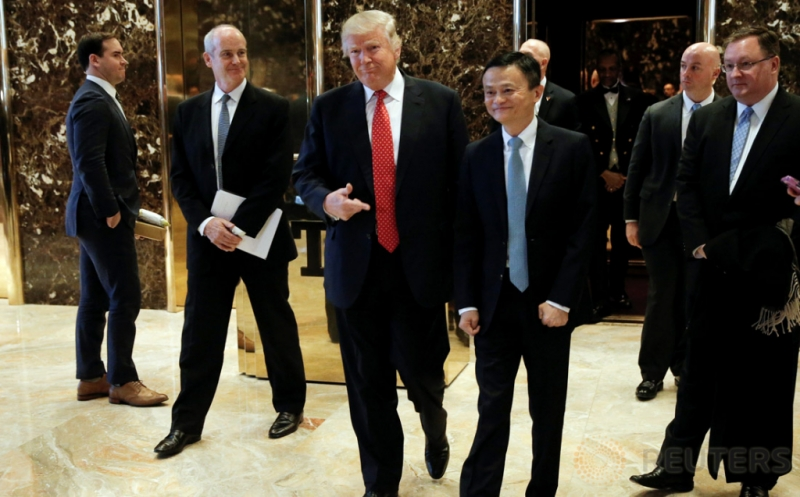 Bos Alibaba Jack Ma Temui Donald Trump