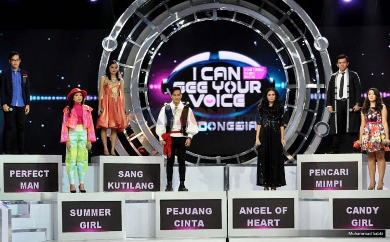 """Tujuh kontestan mistery singer yang hadir pada acara Program MNCTV I Can See Your Voice di Studio MNCTV, Kebon Jeruk, Jakarta Barat, Kamis (12/1/2017). Setelah sukses tahun lalu, kini MNCTV kembali mempersembahkan """"I Can See Your Voice Indonesia Season 2""""."""