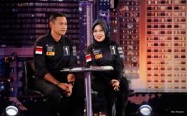 Pasangan nomor urut satu, Agus Harimurti Yudhoyono-Sylviana Murni saat mengikuti debat putaran pertama di Jakarta, Jumat (13/1/2017). Debat calon Gubernur dan Wakil Gubernur pertama tersebut mengangkat tema pembangunan sosial ekonomi untuk Jakarta.
