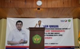 <p>  Chairman & CEO MNC Group Hary Tanoesoedibjo memotivasi mahasiswa Universitas Palangka Raya, Kalimantan Tengah, untuk menjadi entrepreneur</p>
