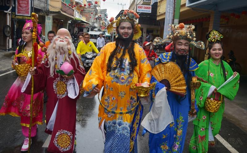 Pawai Kebudayaan Ramaikan Imlek Hari ke-6 di Riau