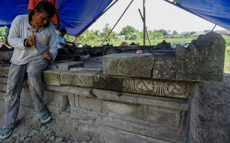 BPCB Rakit Candi Kedulan yang Terpendam Lahar Vulkanik di Yogyakarta