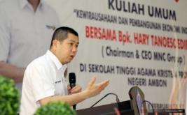 <p>  Dalam kesempatan ini, Hary Tanoe mendorong mahasiswa menekuni entrepreneurship karena Indonesia membutuhkan banyak pemberi kerja baru.</p>