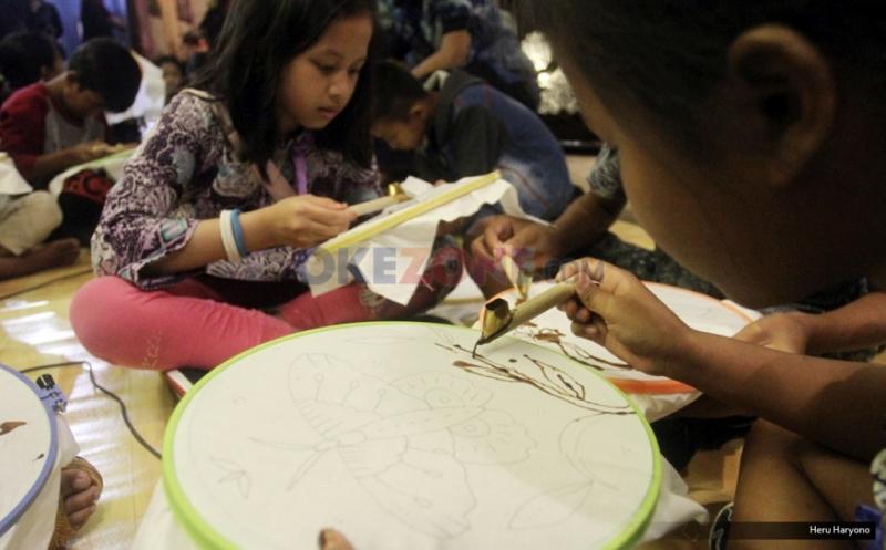 65 Anak Buktikan Cinta Budaya Indonesia lewat Kegiatan Membatik