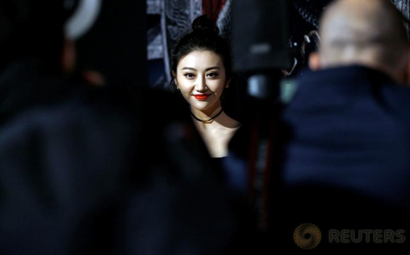 "Aktris Jing Tian menghadiri pemutaran perdana film ""The Great Wall"" di Los Angeles, California, Amerika Serikat, Kamis (16/2/2017) WIB. Jing Tian merupakan aktris cantik Tiongkok berusia 28 tahun. (REUTERS/Mario Anzuoni)"