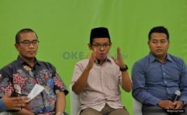 """Koordinator Nasional JPPR Masykuruddin Hafidz saat berdiskusi Redbons yang bertajuk """"Menakar Peta Perpolitikan Pasca Pencoblosan"""" di kantor Okezone, Jakarta, Kamis (16/2/2017).Diskusi tersebut membahas tentang Pencoblosan pada Pemilihan Gubernur (Pilgub) DKI Jakarta 2017 telah berakhir."""