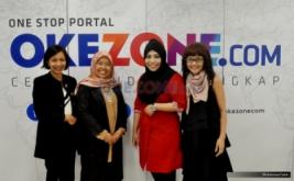 Foto bersama kiri-kanan; Direktur Deputi Sales dan Marketing PT Linktone Indonesia Rina Tantri Rahayu, CEO eLcorps Elidawati Alioemar, Direktur News & Content Sylviana Pravita, dan Wakil Pemimpin Redaksi Palupi Ambardini usai CEO Talk di Kantor Redaksi Okezone, Gedung iNews, Jln KH. Wahid Hasyim, Jakarta Pusat, Kamis (16/2/2017). Bincang-bincang dengan CEO ini membahas tentang karir Elidawati yang sukses membangun bisnis fashion hijab modest.
