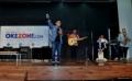 Kandara Band saat perform pada acara Okezone Goes to Campus di kampus Universitas Tarumanegara (Untar), Jakarta Barat, Rabu (22/2/2017). Penampilan Yuka dan Kandara sukses menghibur mahasiswa-mahasiswi Untar yang menghadiri acara tersebut.