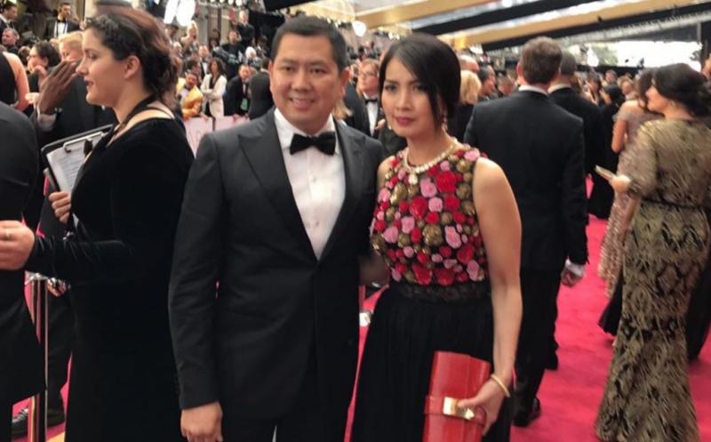 Hary Tanoesoedibjo dan Liliana Tanoesoedibjo Tampil Serasi di Ajang Bergengsi Piala Oscar
