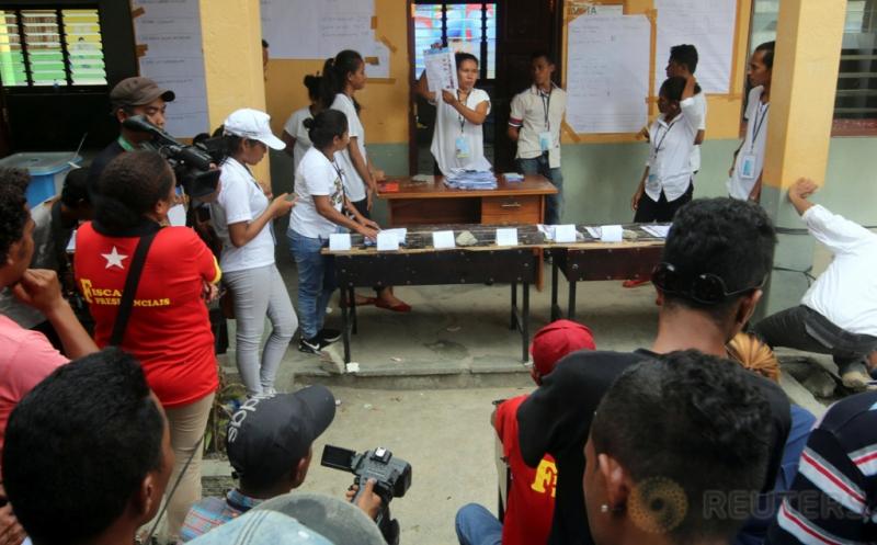 Penghitungan Surat Suara Pilpres Timor Leste