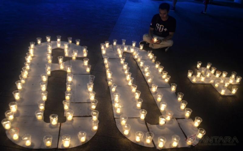 Begini Suasana Peringatan Earth Hour di Jakarta dan Sejumlah Daerah