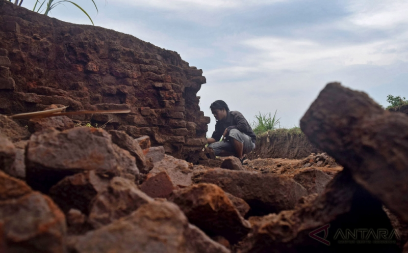 Penemuan Struktur Batu Bata Kuno Kawasan Cagar Budaya