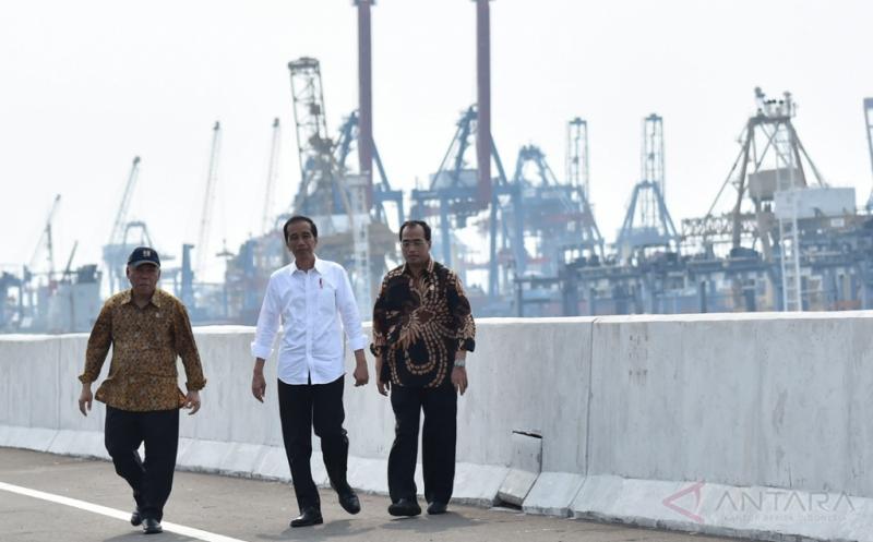 Presiden Resmikan Jalan Tol Akses Pelabuhan Tanjung Priok