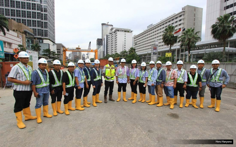 MNC Tinjau Pembangunan Proyek MRT Jakarta