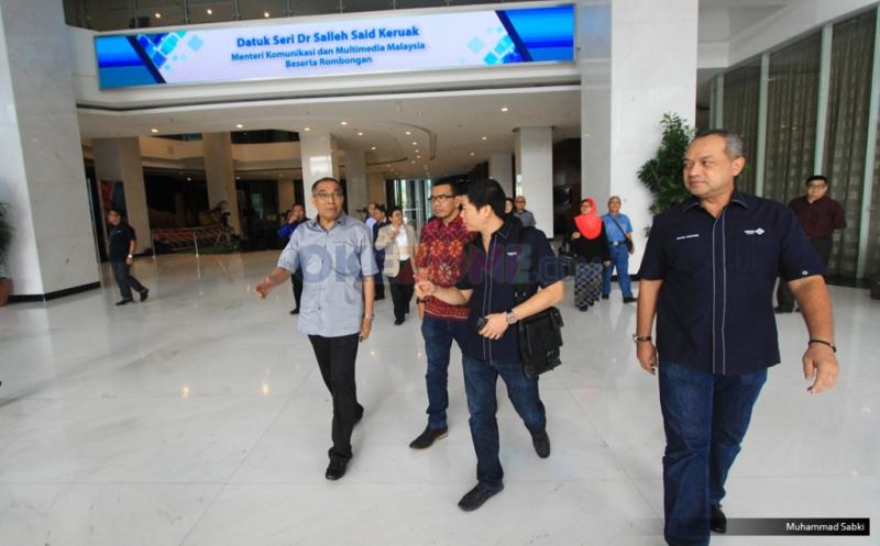 Menteri Komunikasi dan Multimedia Malaysia Kagumi Peralatan dan Fasilitas MNC Media