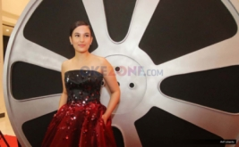 Artis Chelsea Islan saat berada di red carpet Indonesian Movie Actors Awards (IMAA) 2017 di MNC News Center, Jakarta, Kamis (18/5/2017).