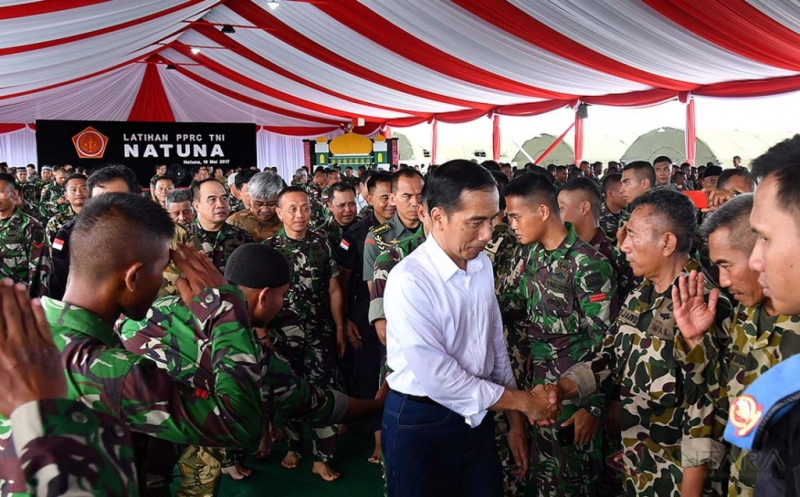 Presiden Jokowi Tinjau Latgab PPRC