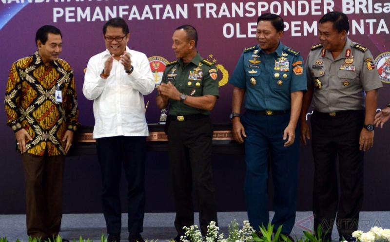 Pemanfaatan 4 Slot Transponder BRIsat untuk 5 Kementerian dan Lembaga Negara