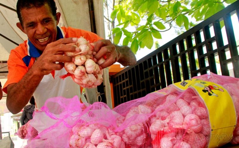 Stabilisasi Harga, Bulog Divre NTT Datangkan 7 Ton Bawang Putih dari Jatim