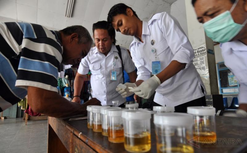 BNN Gelar Tes Narkoba Sopir di Terminal Induk Mamboro Palu