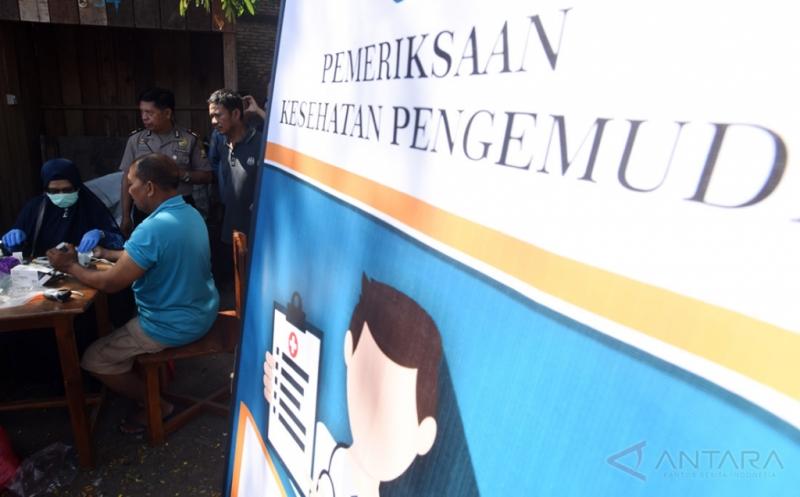 Pemeriksaan Kesehatan Pengemudi di Terminal Malengkeri Makassar