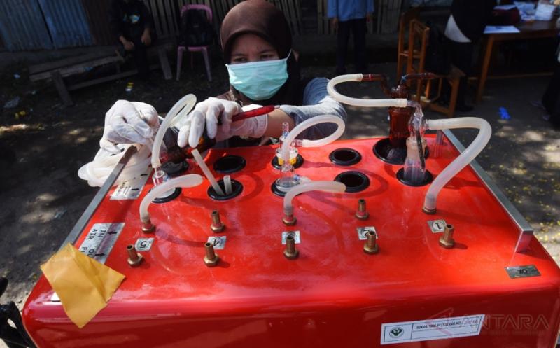 Pengukuran Tingkat Polusi Udara Terminal Malengkeri Makassar