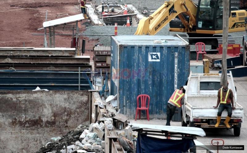 Pembangunan Proyek Stasiun Bawah Tanah Bundaran HI Terus Dikebut
