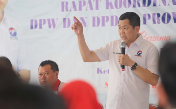 Hary Tanoe Pimpin Rakor Terbatas DPW dan DPD Partai Perindo se- Jawa Timur