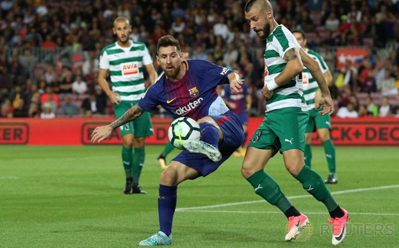 Messi Cetak 4 Gol, Barcelona Kokoh di Puncak Klasemen