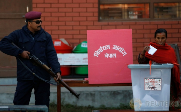Antusiame Warga Bhaktapur pada Pemilu Nepal