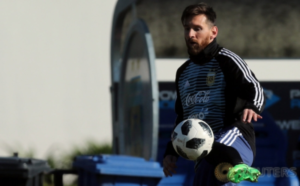Latihan Lionel Messi Cs Jelang Piala Dunia 2018