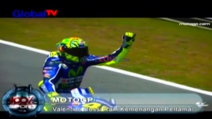 Rossi Raih Kemenangan Pertama