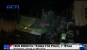 Truk Tronton Tabrak Pos Polisi