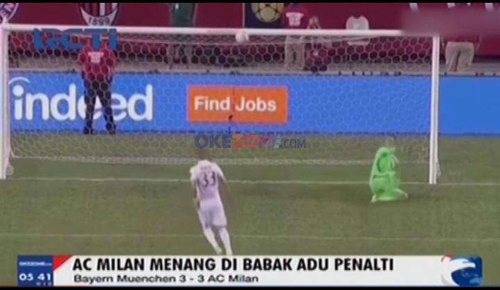 AC MIlan Menang Adu Penalti dengan Bayern Munchen