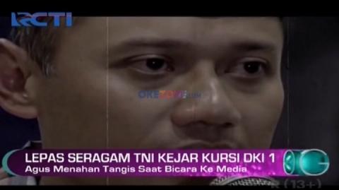 Agus Yudhoyono Menahan Tangis Saat Bicara ke Media