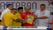 Ketiga Cagub dan Cawagub DKI Jakarta Bebas Narkoba