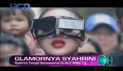 Syahrini Tampil Sensasional di HUT MNC TV