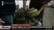 Polda Sumatera Utara Grebek Tempat Gas Oplosan