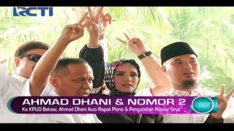 Ahmad Dhani Ikuti Rapat Pleno dan Pengundian Nomor Urut