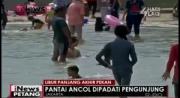 Pantai Ancol Dipadati Pengunjung Liburan Akhir Pekan