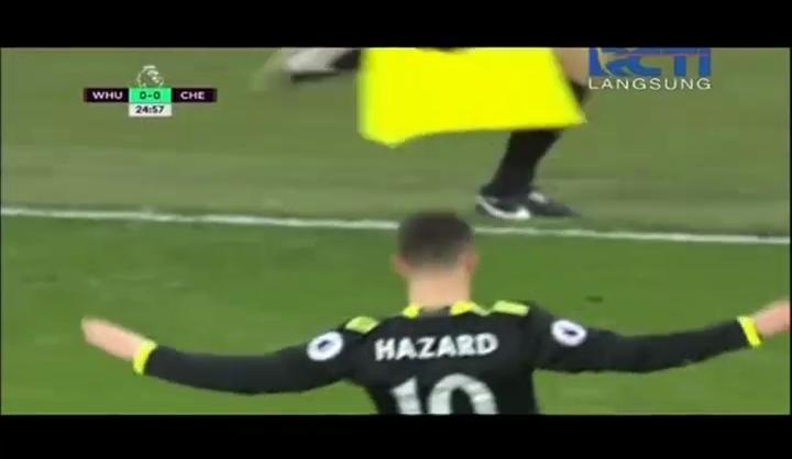 Best Goal: Gol Indah Eden Hazard Kejutkan West Ham