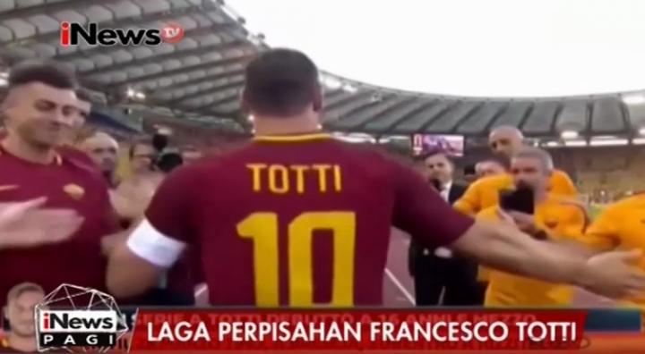 Resmi Pensiun, Romanisti Berikan Apresiasi Terhadap Pengabdian Totti